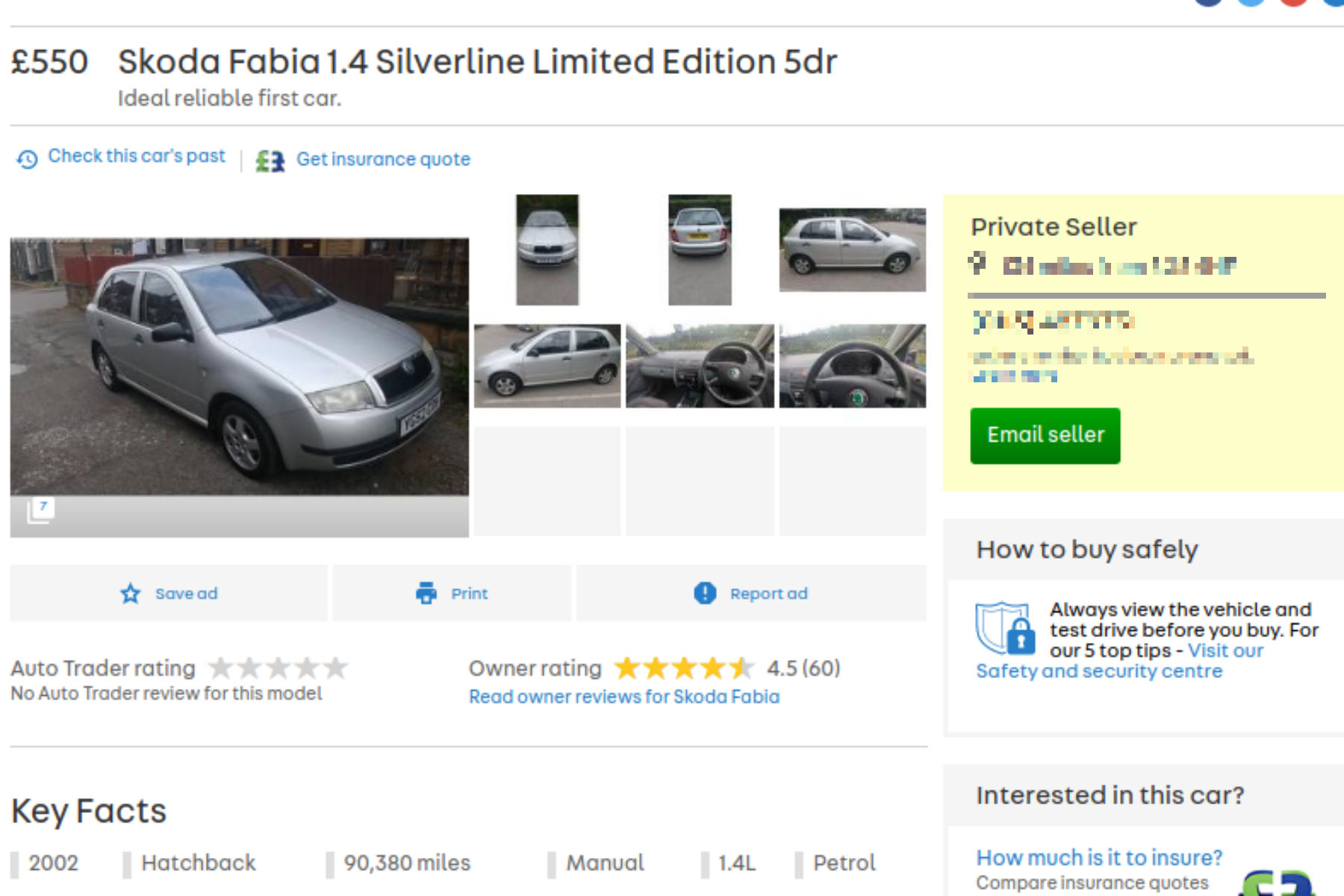 celebs go crazy for £550 skoda fabia on auto trader