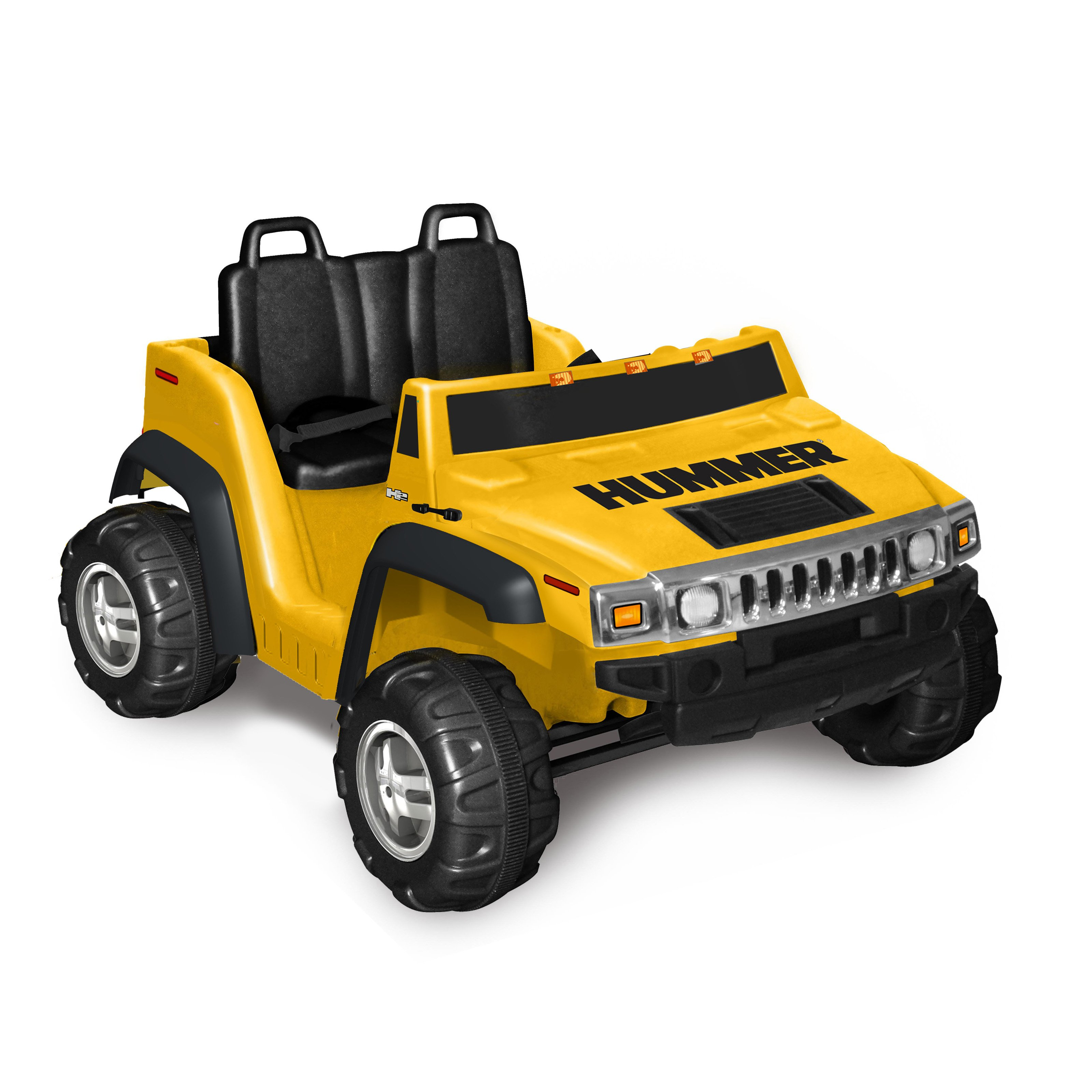 kid motorz two seater hummer h2 boys 12 volt battery powered ride on yellow walmart