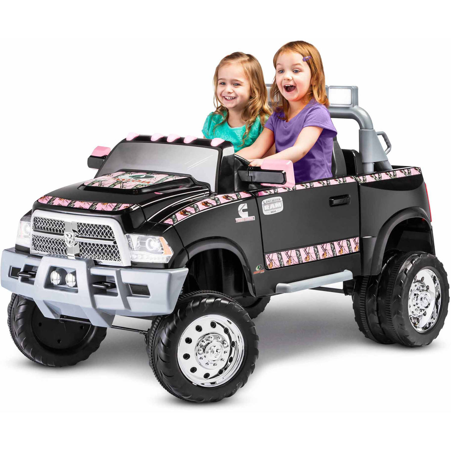 kid trax mossy oak ram 3500 dually 12v battery powered ride on walmart