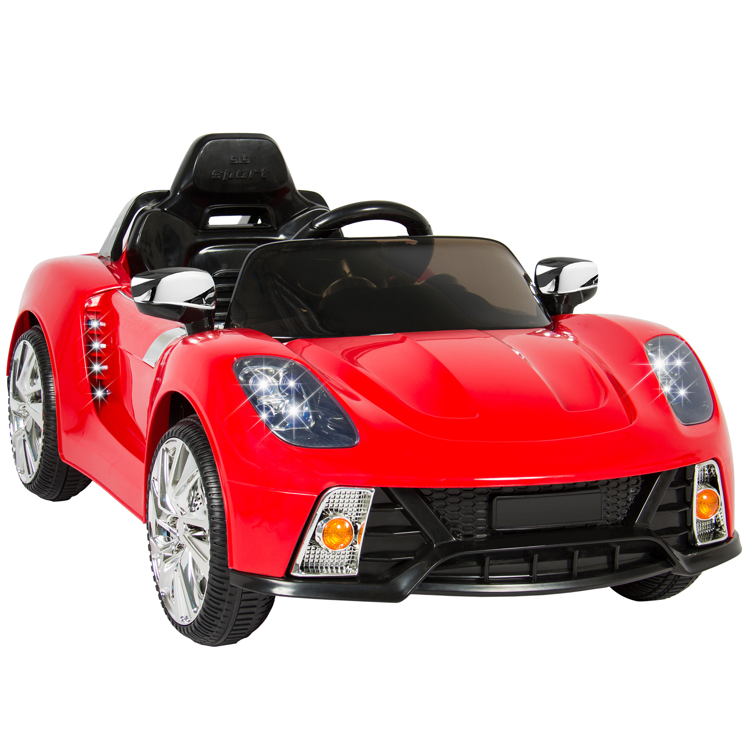 kids ride on car with parental remote control 12v electric battery powered red