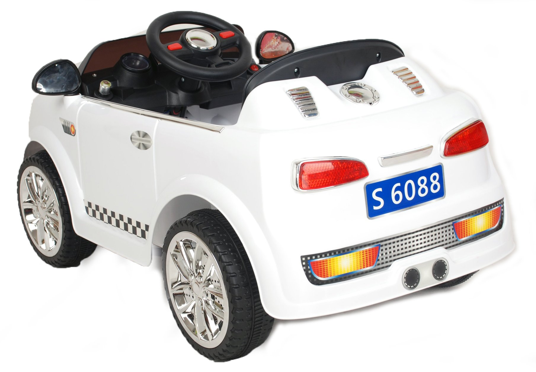 6v 15w battery powered electric ride on mini toy car with parental remote control model s6088 white