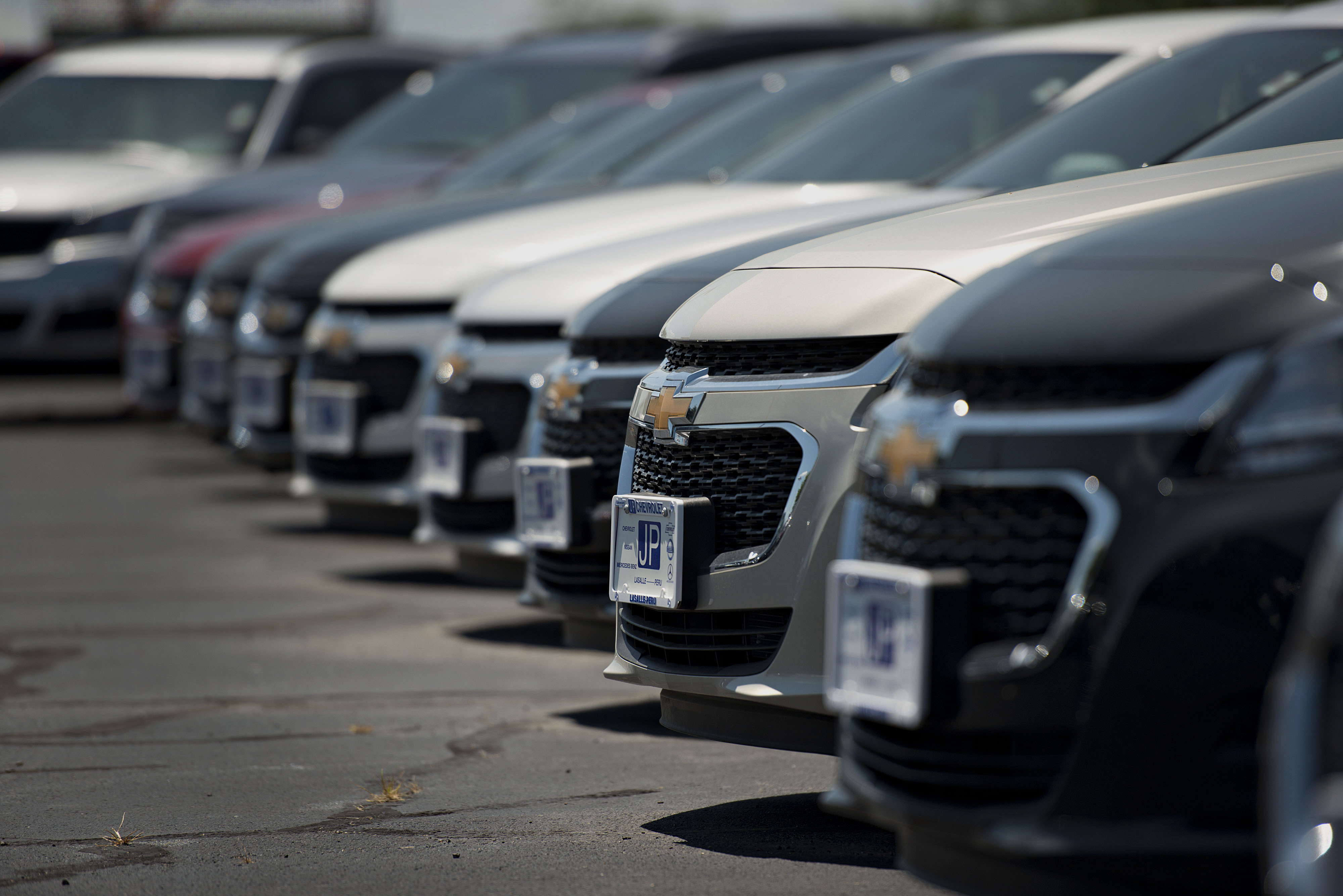 general motors co chevy malibu vehicles sit on the lot at jp chevrolet dealership in