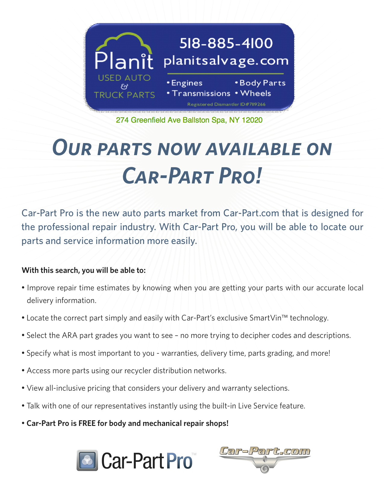 Car Part Com Used Auto Parts New Planit Salvage