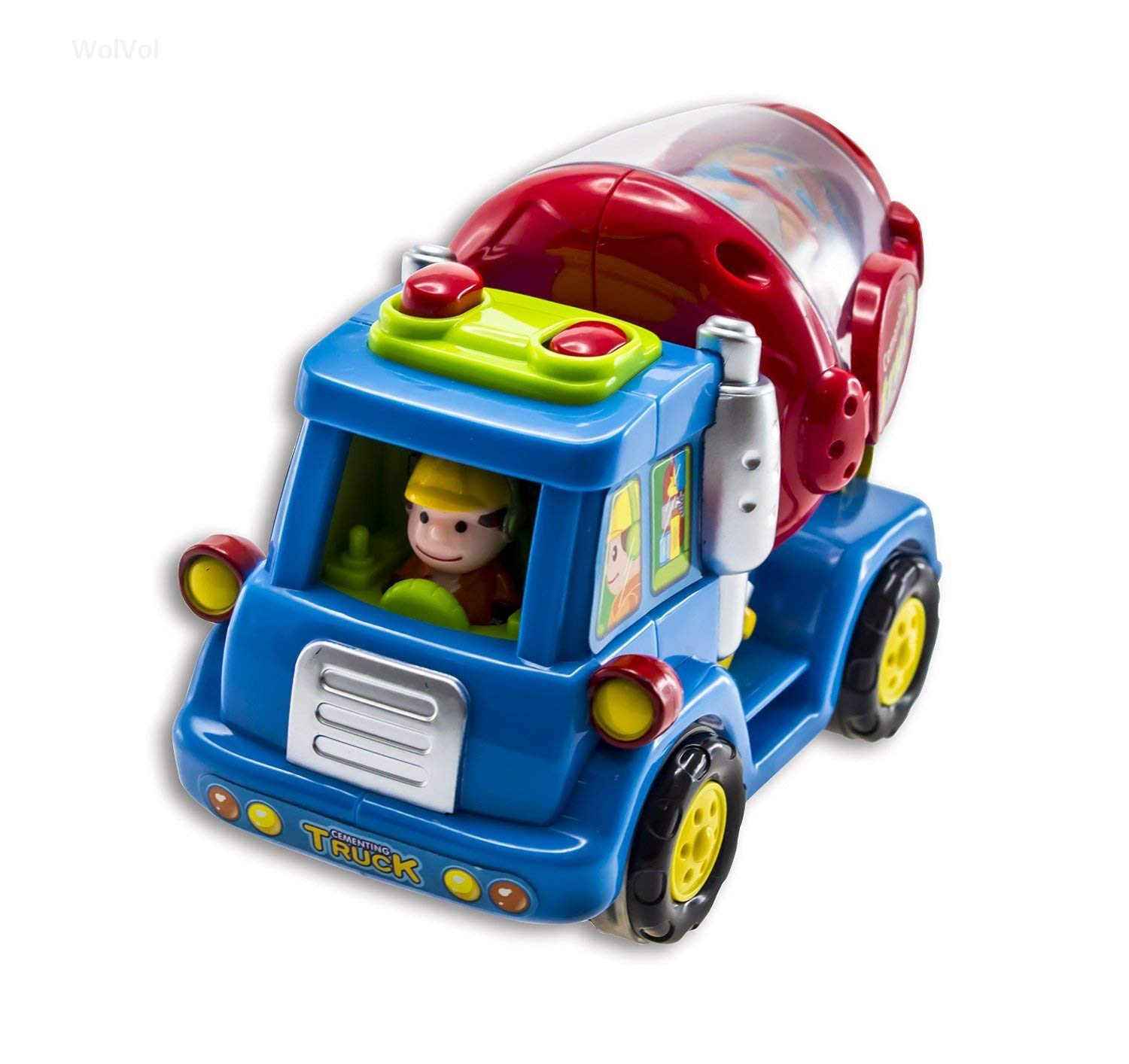advanced play push and go friction power car toys street sweeper cement mixer harvester truck construction toys for toddler kids boys set of