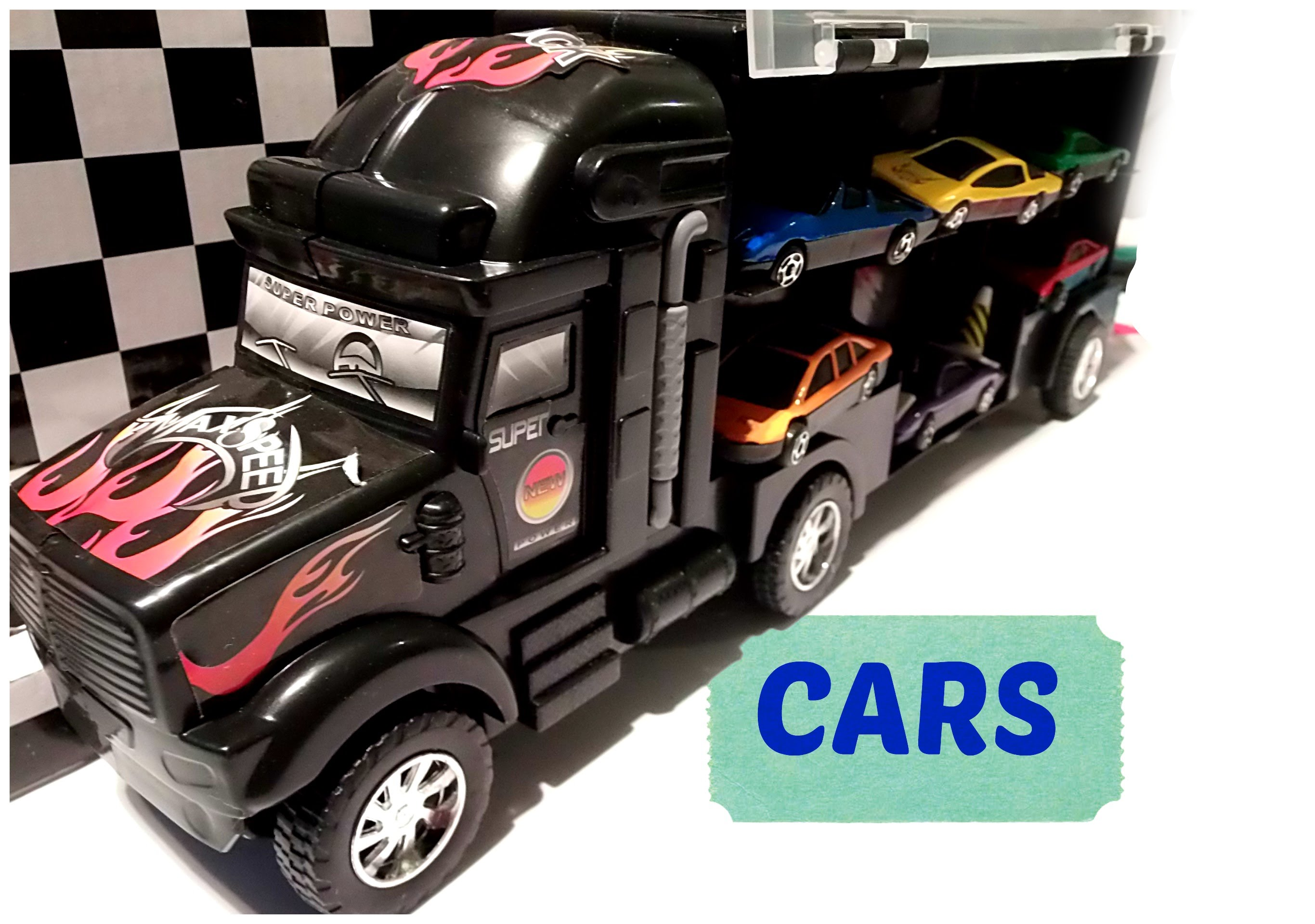 truck with 6 cars for kids boys toys by ingrid surprise