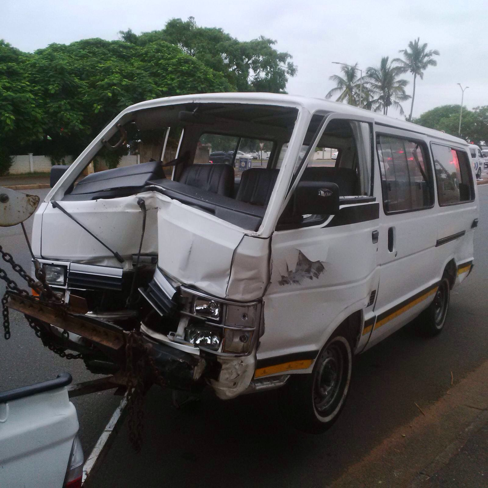 nine people were injured after a collision involving a minibus taxi and a light motor vehicle this morning in durban north