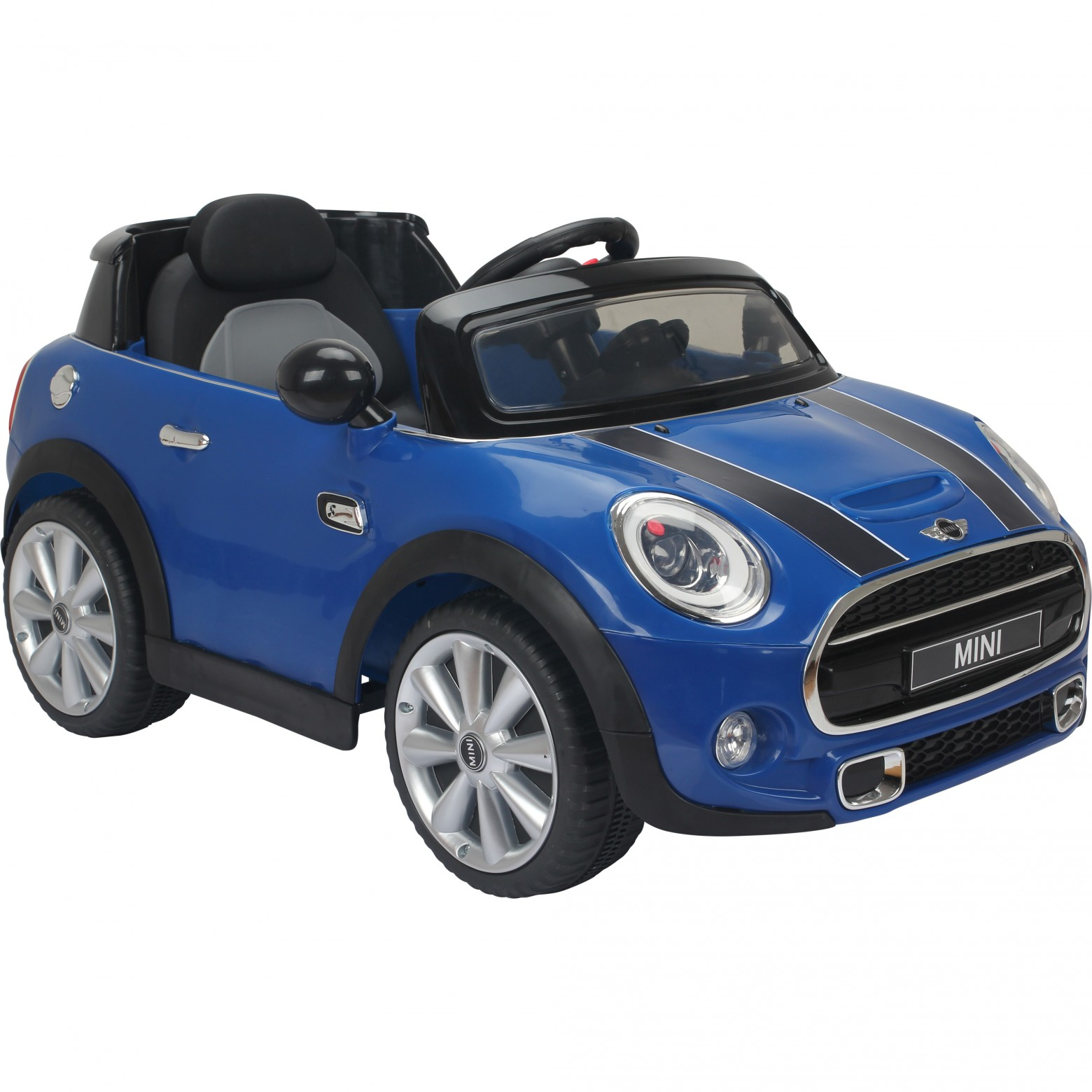 licensed mini cooper s 12v child s ride on car blue