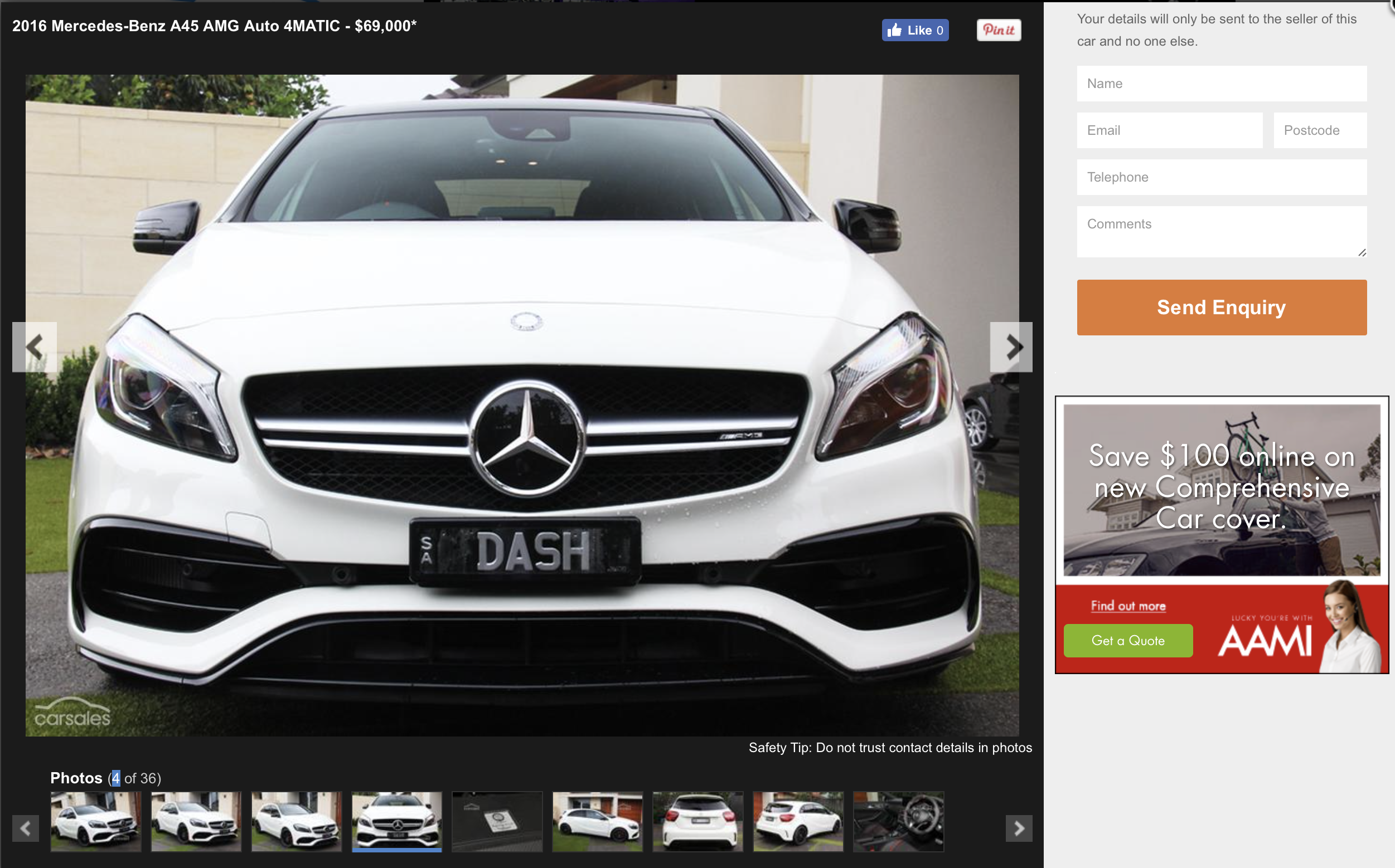 a surprise whilst looking to a new car i don t live in south australia