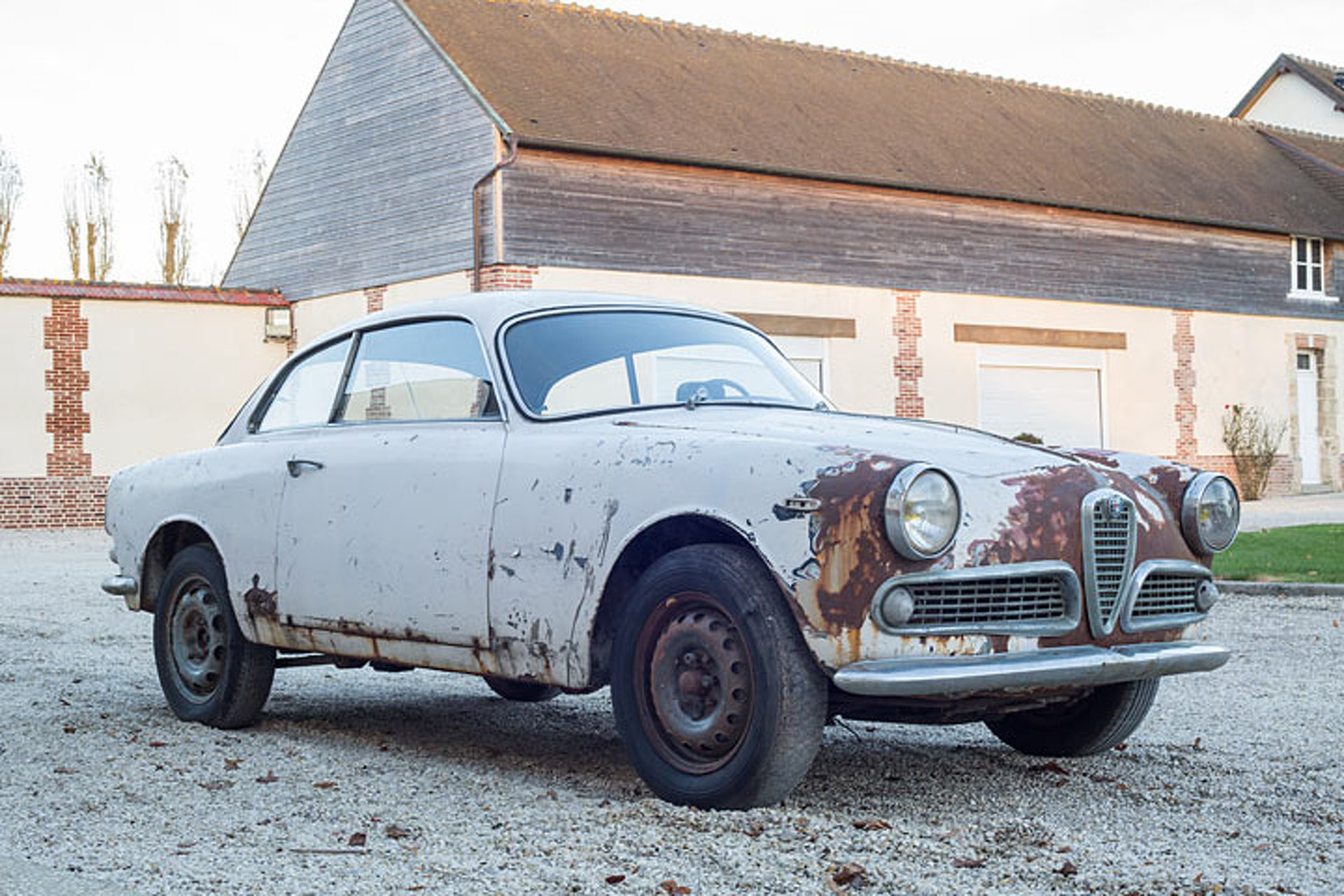 this 63 alfa romeo barn find is for sale rust included