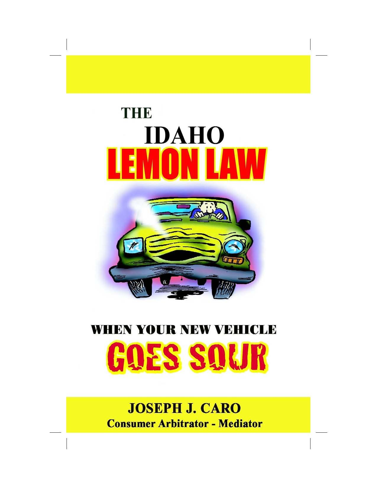 quotations · the idaho lemon law when your new vehicle goes sour lemon law books book