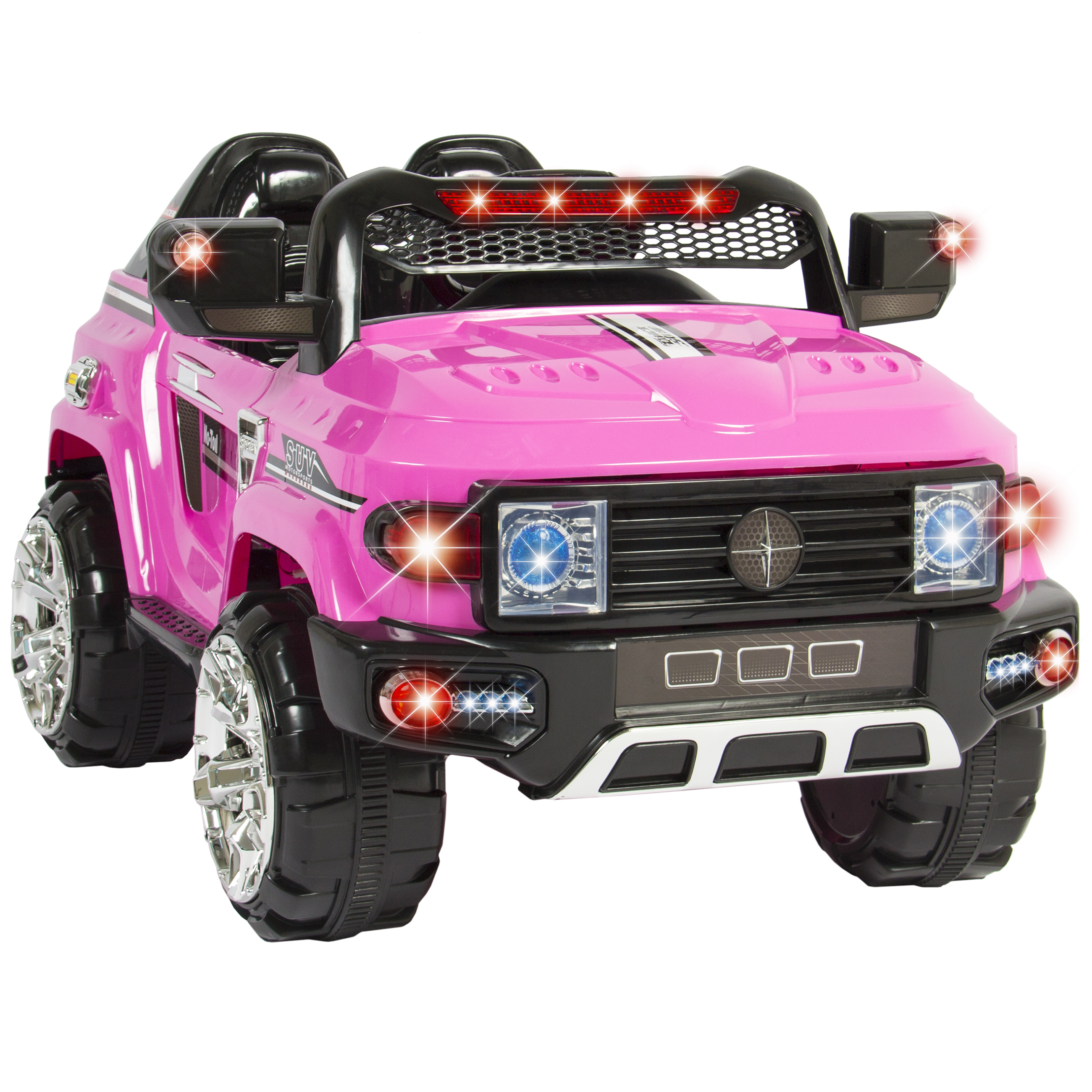 best choice products 12v kids battery powered remote control electric rc ride on car w led lights mp3 aux red walmart