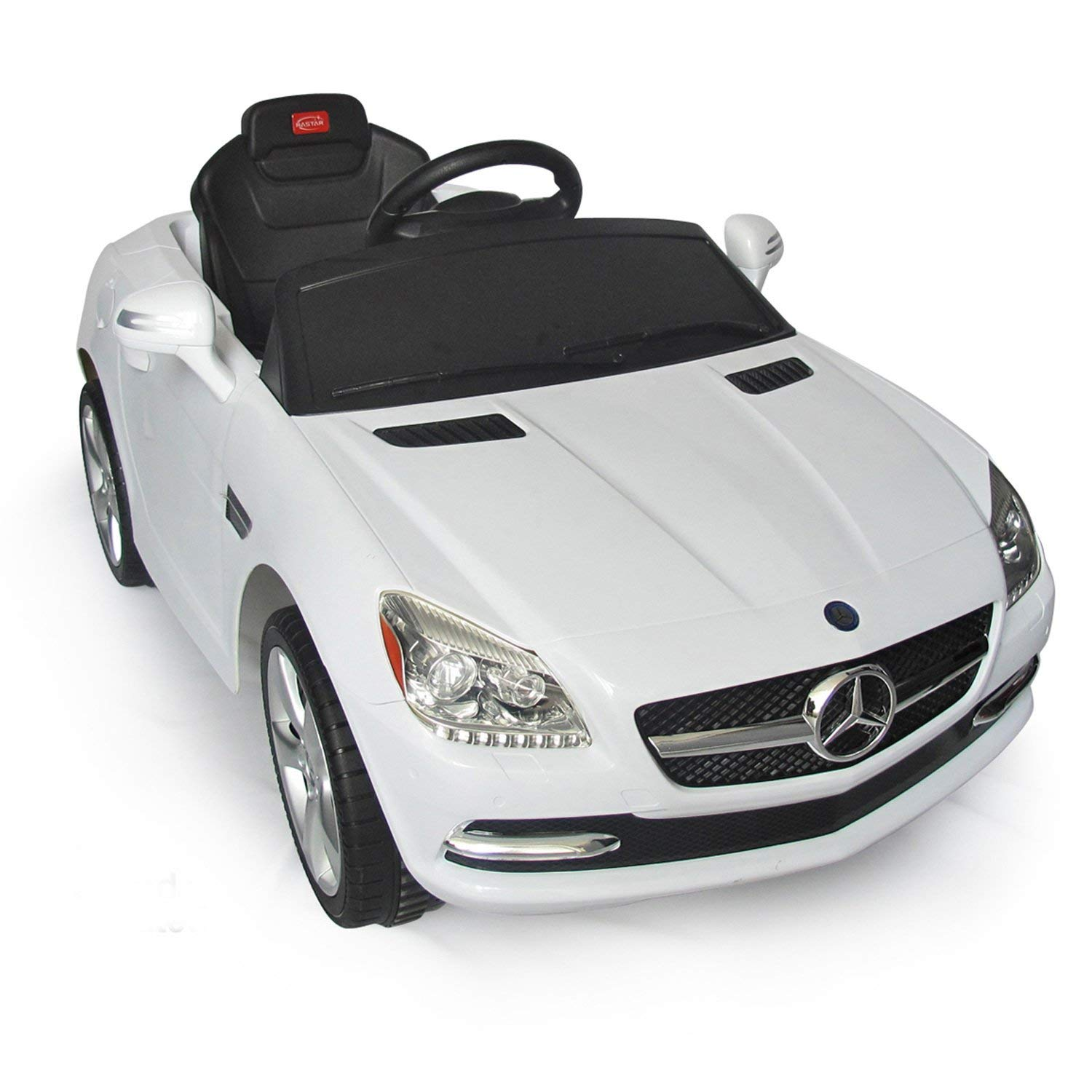 mercedes benz slk kids 6v electric battery powered ride on toy car w parent remote control white toys games