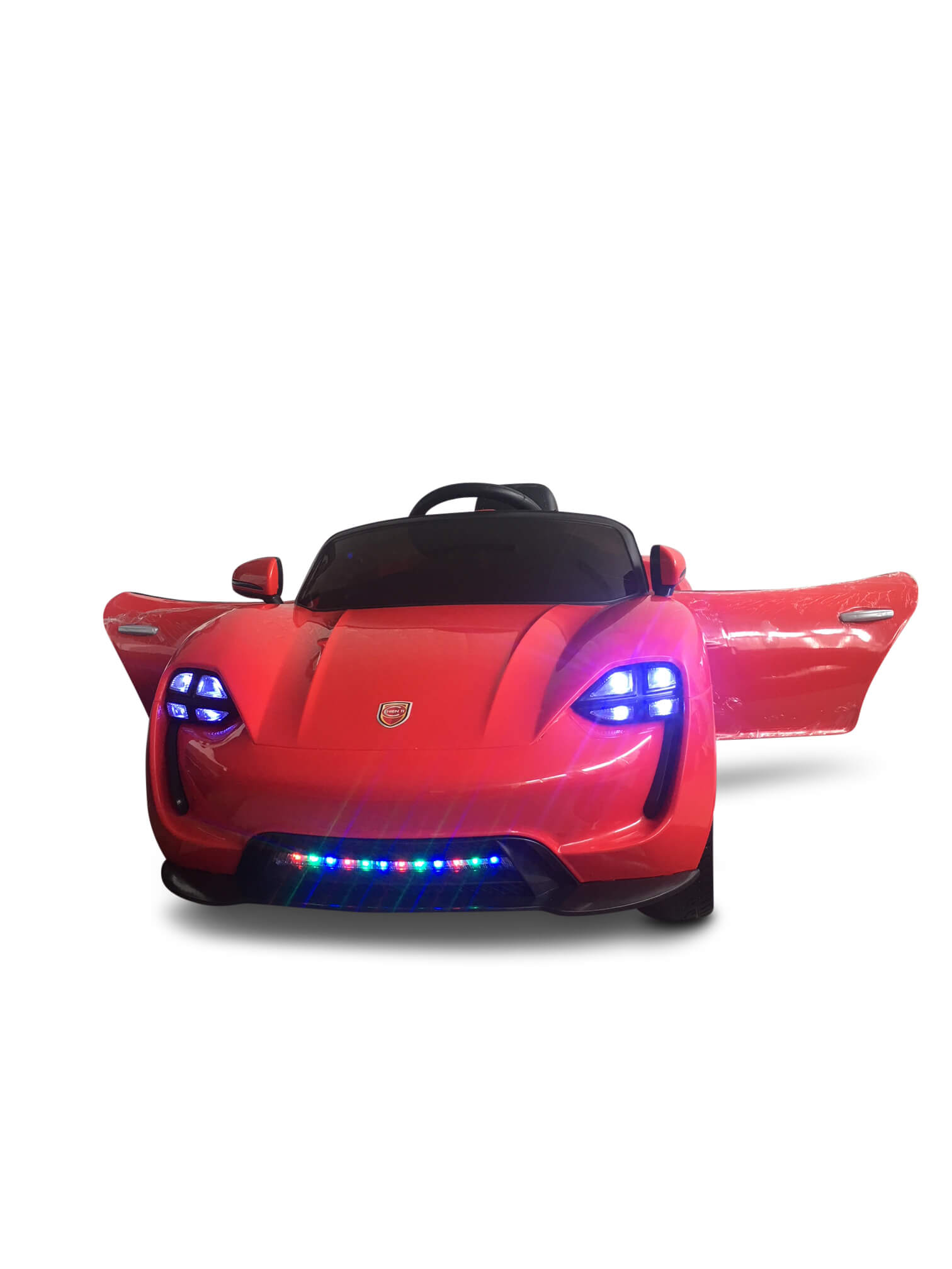 sport eva edition 12v kids ride on car with rc music lights red