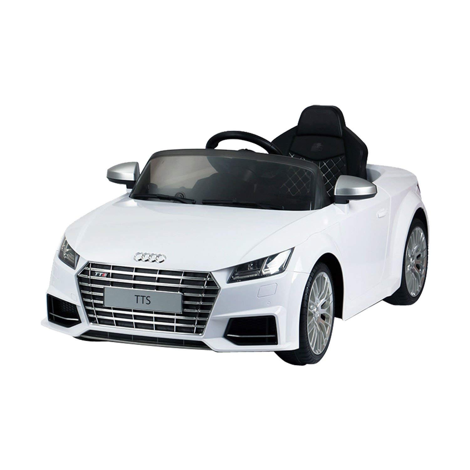 audi 6v kids electric ride on car with remote control white toys games