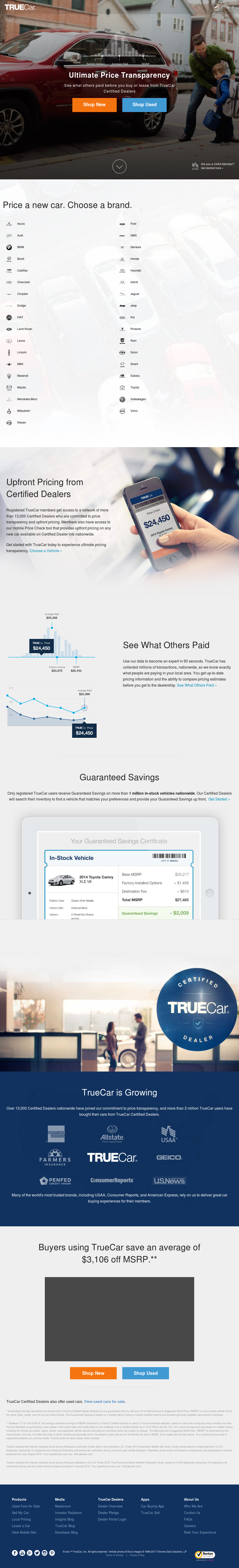 truecar website history