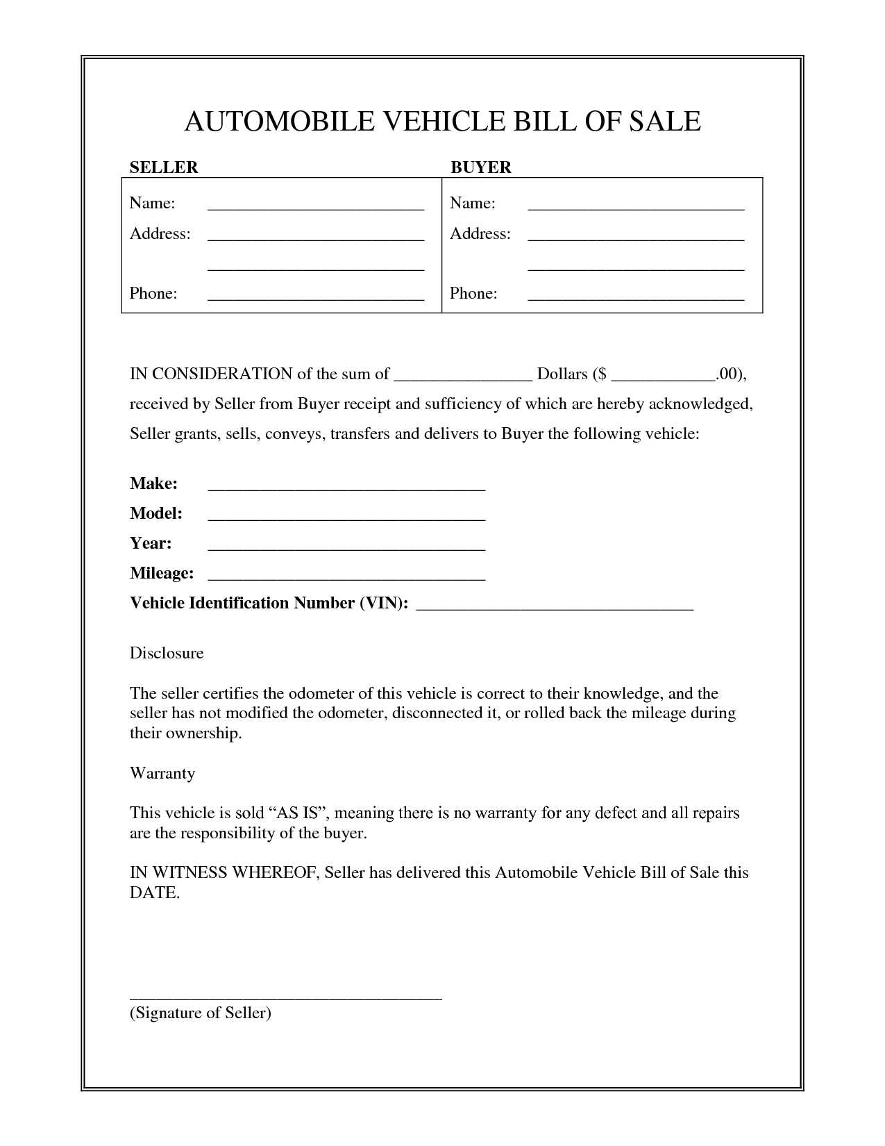 boat bill of sale word template with motor vehicle receiptlate elegant used car bill sale form