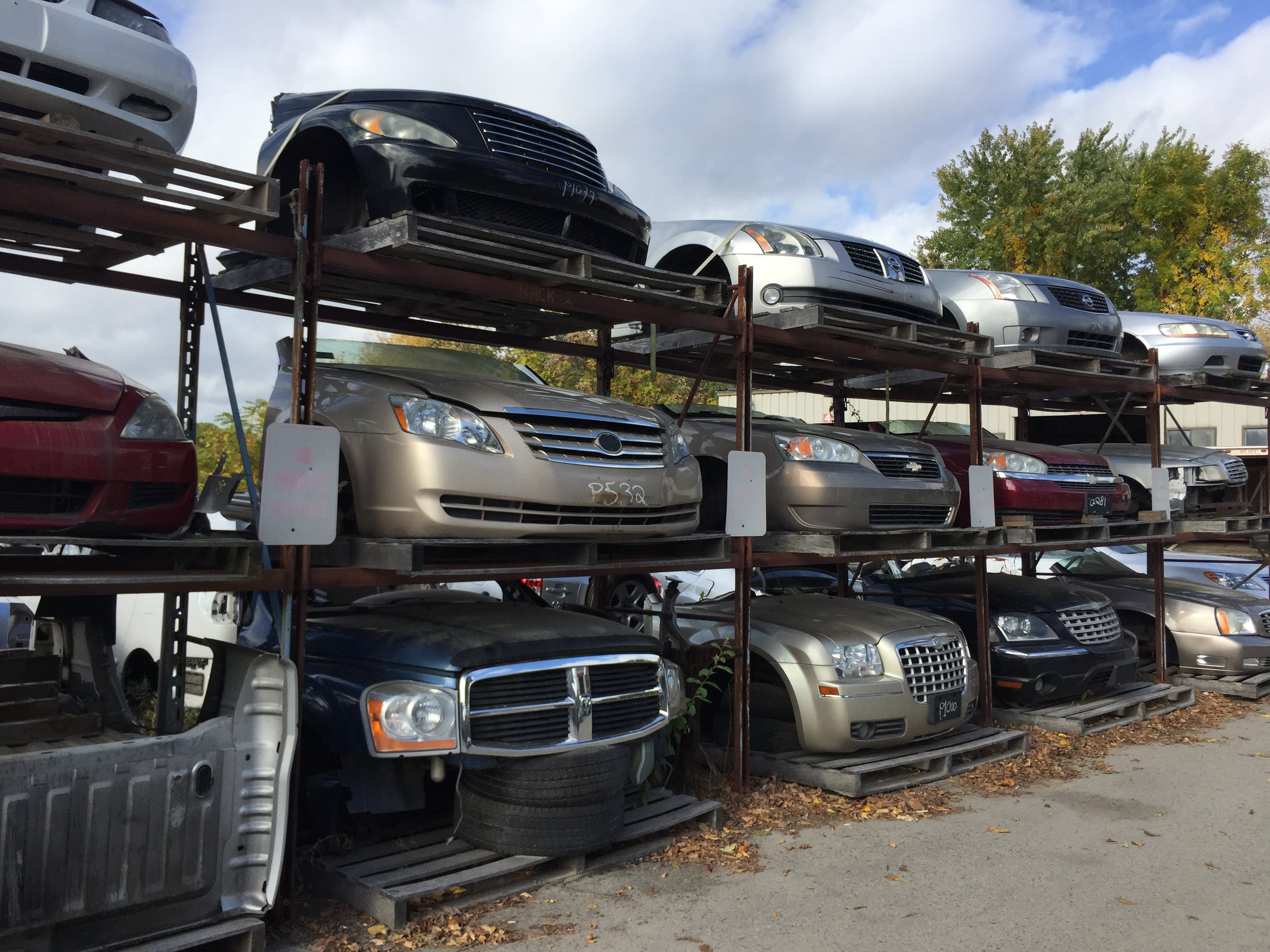 we carry hundreds of used auto parts from fenders hoods windshields doors to headlights taillights and other accessories