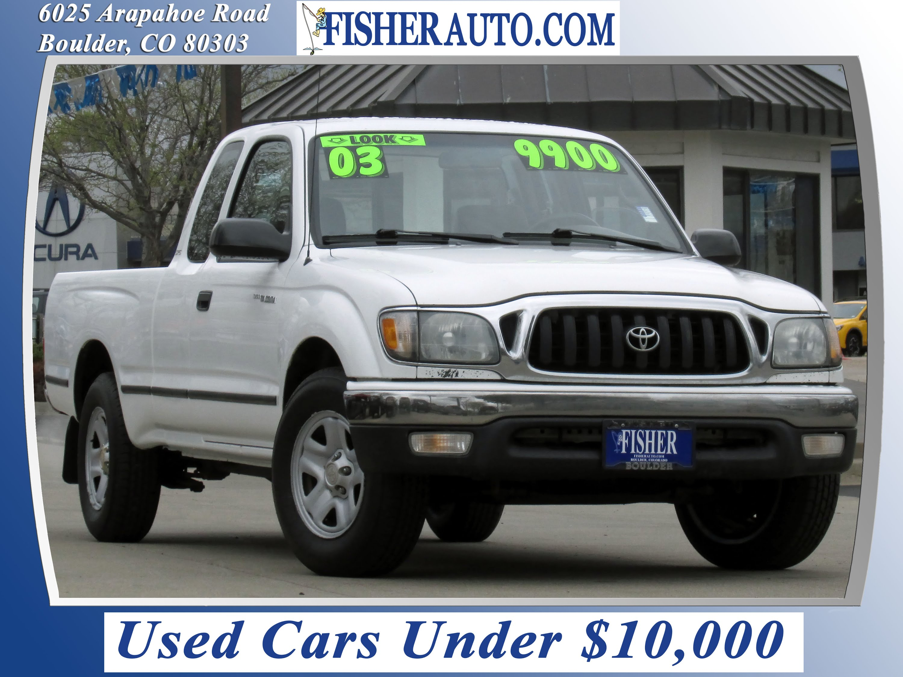 used cars 2003 toyota ta a xtracab boulder longmont denver fisher auto