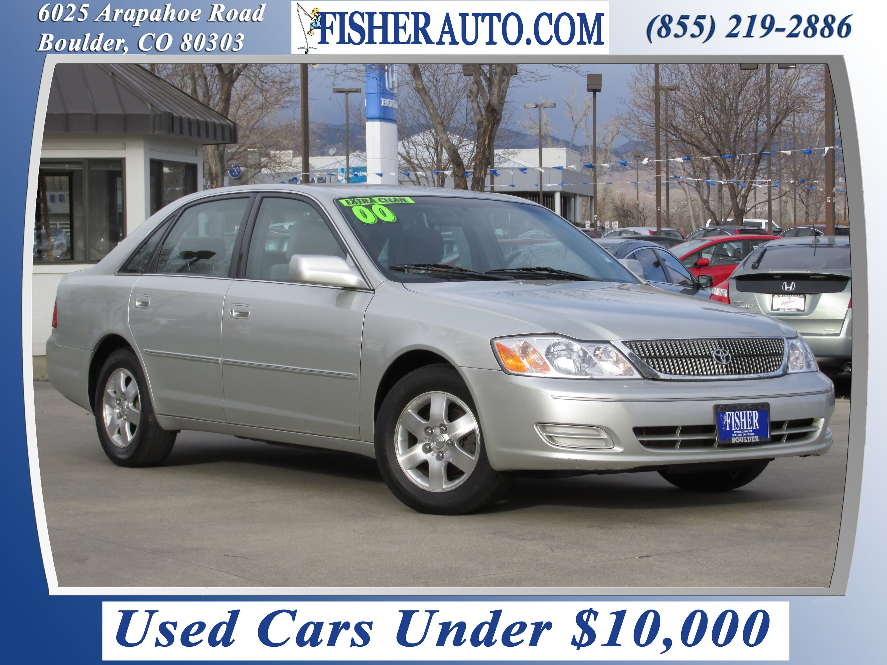 used cars under $10 000 2000 toyota avalon xl silver $7 900 longmont denver fisher auto p6824a