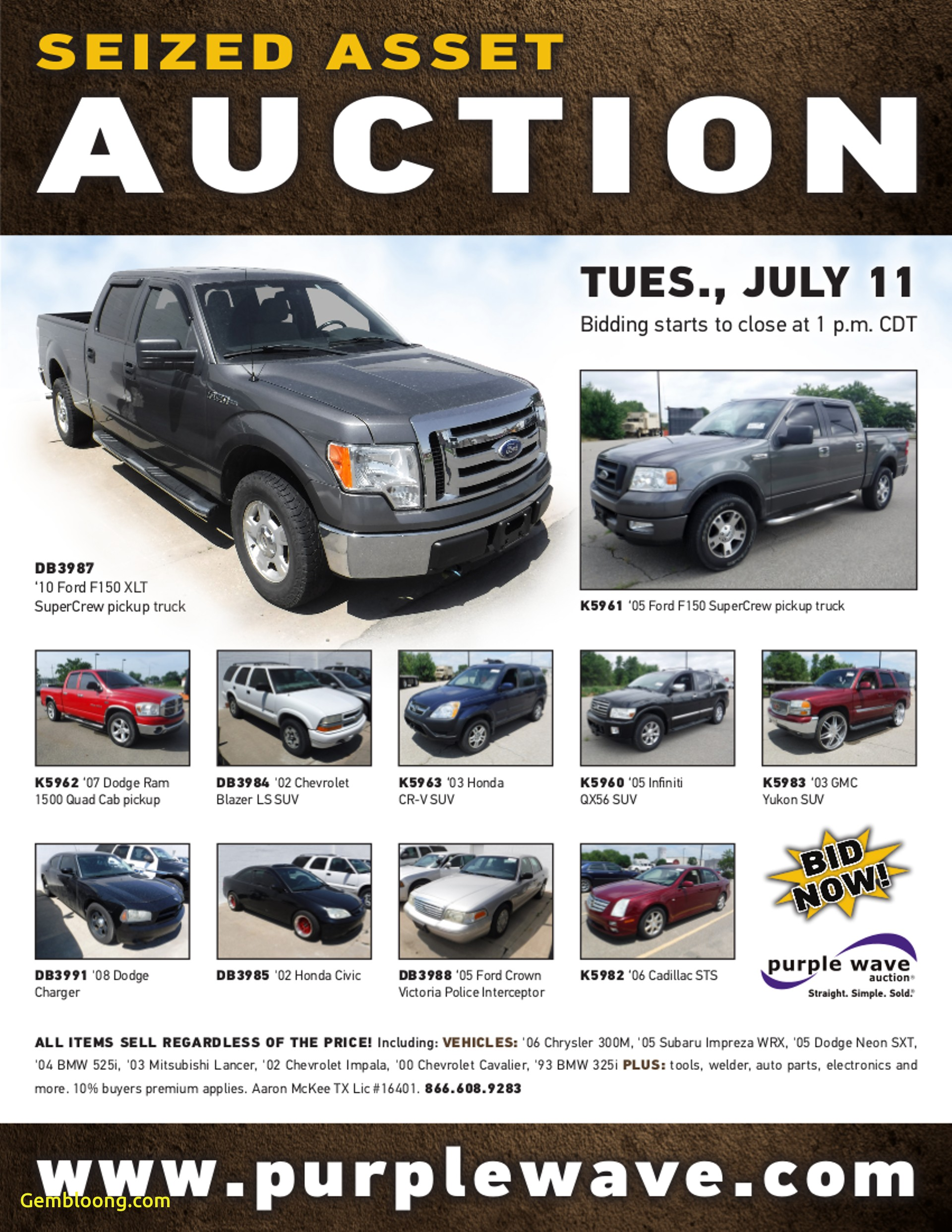 impound cars for sale near me fresh sold july 11 seized asset auction