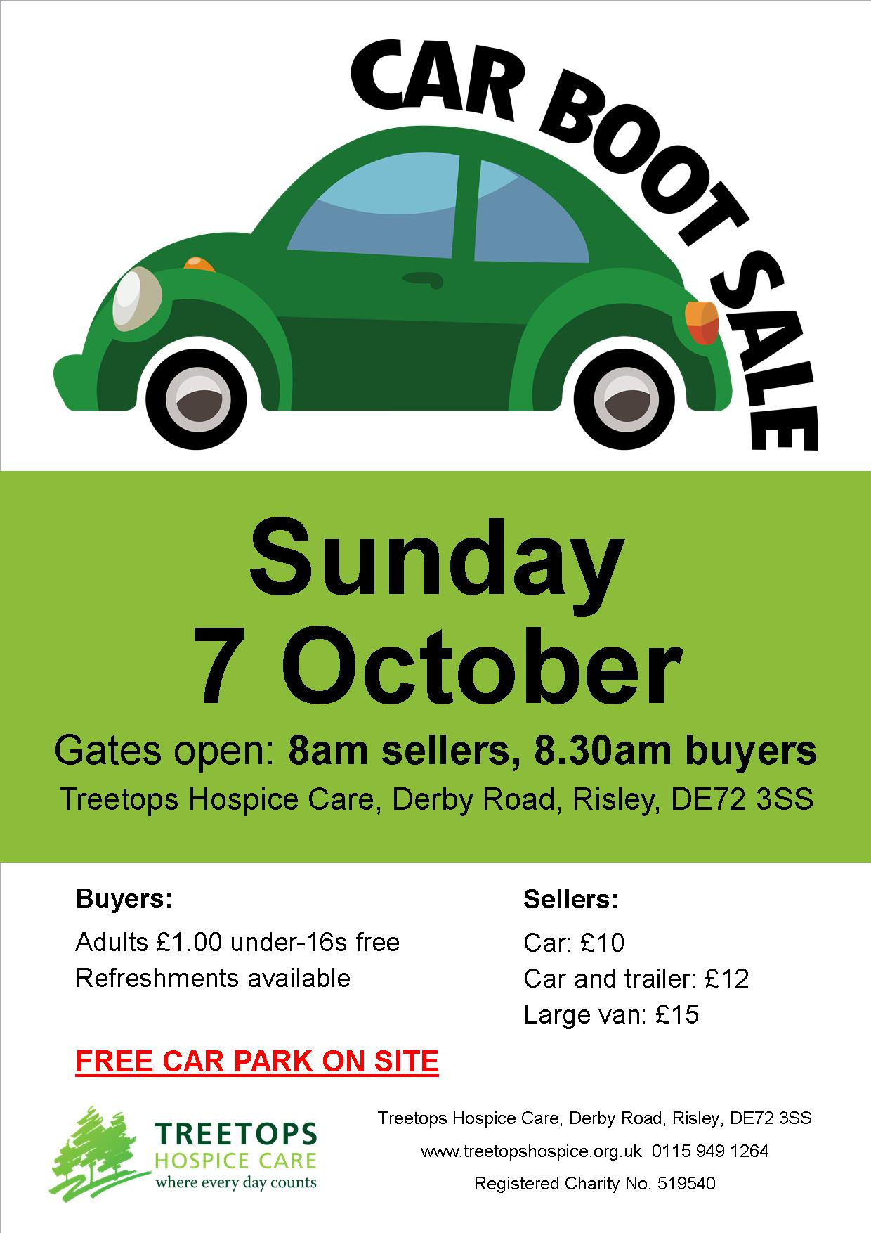 car boot sale poster oct 2018 new artwork