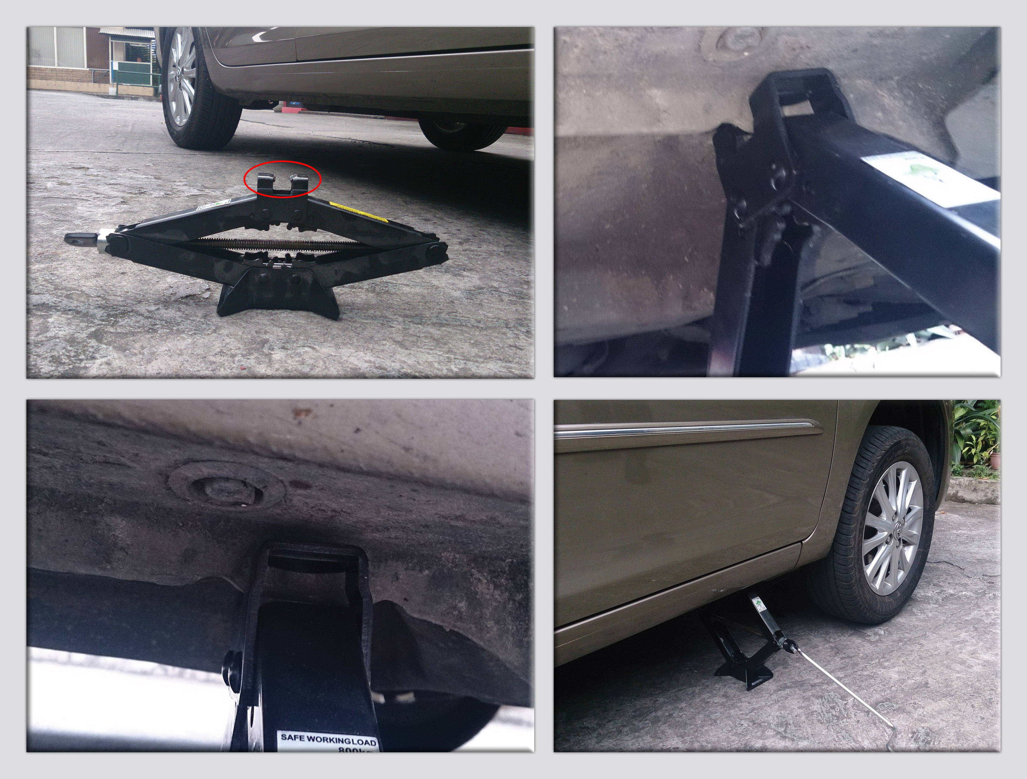 refer to the picture do you know why the top part of the jack lift has a slot or uneven surface if you have this kind of jack this means your car