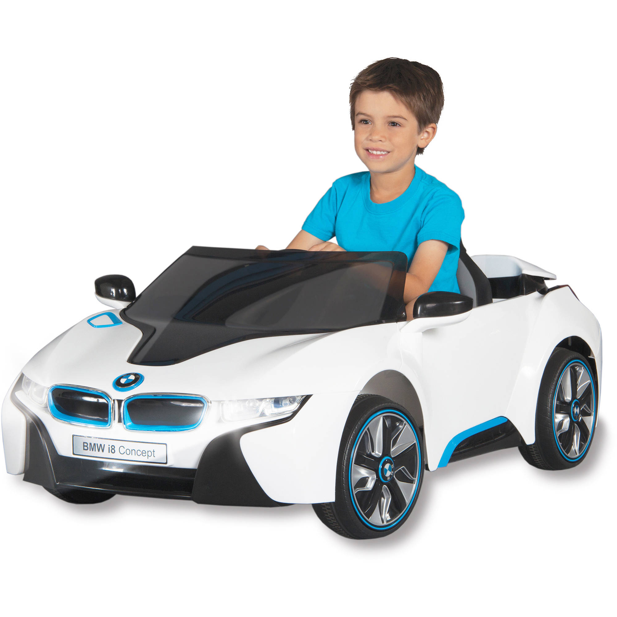Kids Motorized Cars Beautiful Bmw I8 Concept Car 6 Volt Battery Powered Ride On Walmart