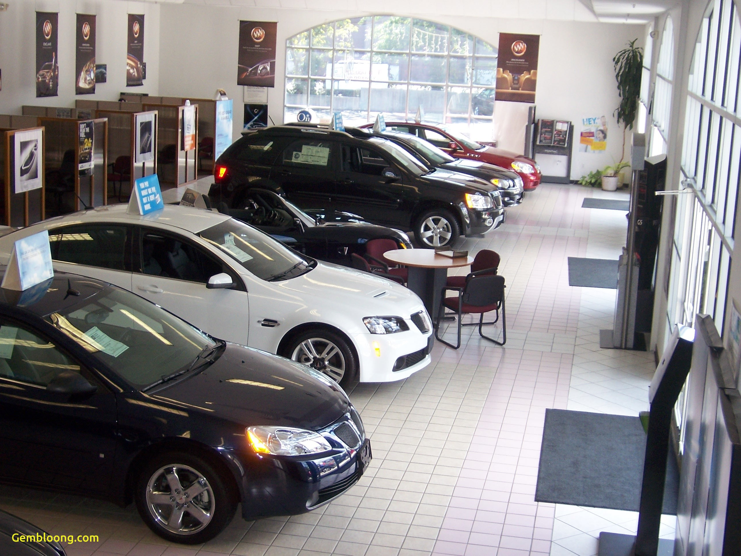 inside our showroom at g j used car dealership in fairfield ct