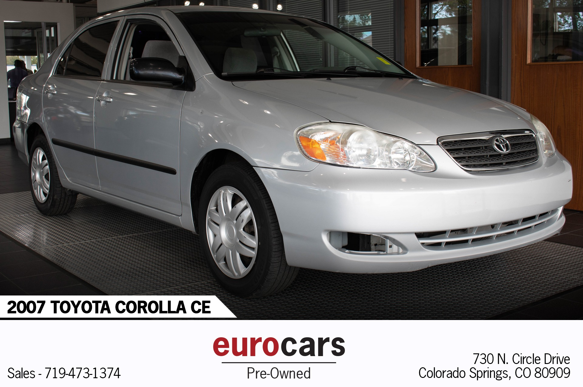 Used toyota Corolla for Sale Elegant 2007 toyota Corolla Ce Stock E1206a for Sale Near Colorado Springs
