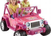 Barbie Car for Kids Luxury Power Wheels Barbie Deluxe Jeep Wrangler toys Games