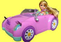 Barbie Car for Kids New Pink Sparkle Girls Car Surprise Unboxing Playtime