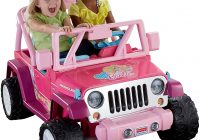 Barbie Car for Kids New Power Wheels Barbie Jammin Jeep Wrangler toys Games