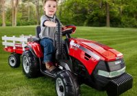 Battery Operated Ride On toys Luxury Peg Perego Case Ih Magnum Tractor Trailer Battery Powered Riding