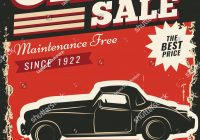 Car for Sale Poster Best Of Vintage Retro Stile Sale Car Vector Stock Vector Royalty Free