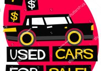 Car for Sale Poster Unique Used Cars Sale Text Box Flat Stock Vector Royalty Free