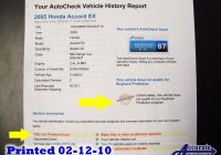 Carfax and Autocheck New Honda and Acura Used Car Blog