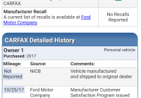 Carfax Damage Reported Unique Carfax with A New Vehicle
