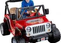 Drivable toy Cars Awesome Power Wheels Jeep Wrangler Red toys Games