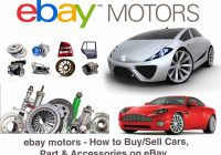 Ebay Sale Cars Best Of Ebay Motors How to Sell Cars Part Accessories On Ebay