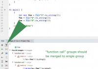 Find Usage New Group by Usage Type In Find Usages Results with Wrong Grouping