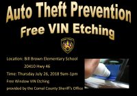 Free Vin Unique Free Vin Etching event Ing Up Al County Sheriff S Office