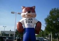 Give Me the Carfax Awesome Show Me the Carfax Giant Inflatable Car Fox at Your Service
