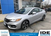 Honda Certified Used Cars Elegant Certified Pre Owned 2014 Honda Civic Coupe Si 2dr Car In Rochester