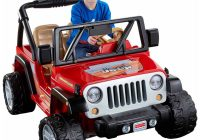 Jeep Ride On toy Unique Fisher Price Power Wheels Jeep Wrangler Lava Red Black