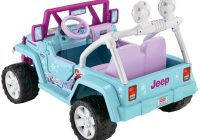 Kids Ride On Jeep Luxury Power Wheels Disney Frozen Jeep Wrangler 12 Volt Battery Powered