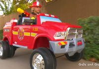 Kids Ride On Truck Luxury Kids Fire Truck Unboxing and Review Dodge Ram 3500 Ride On Fire