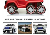Motor Cars for toddlers Awesome Kids Ride On Car Land Cruiser A Kids True Beast 6 Wheels 4