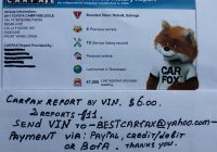 My Carfax Report Elegant Carfax History Report by Vin 6 00$ Only Payment Paypal Credit