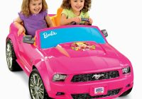 Pink toddler Car Beautiful Power Wheels 12v Battery toy Ride On Barbie ford Mustang Pink
