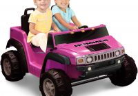 Two Seater Kids Car Lovely 2 Seat Ride On Pink Hummer H2 toy Car Power Battery Vehicle Kids Fun